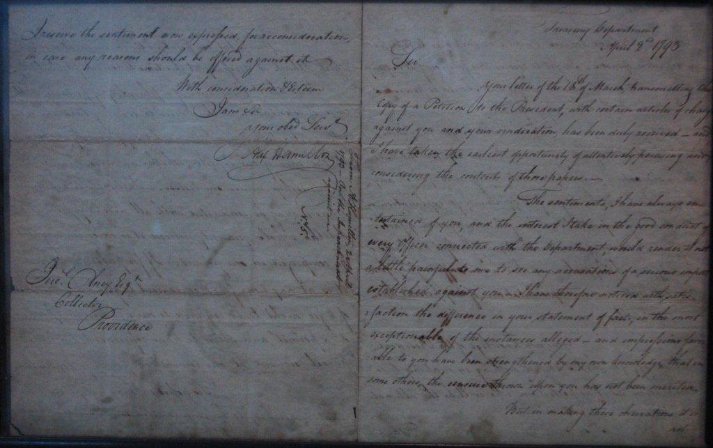 Alexander Hamilton ALS Dated Apr 2 1793 - 3