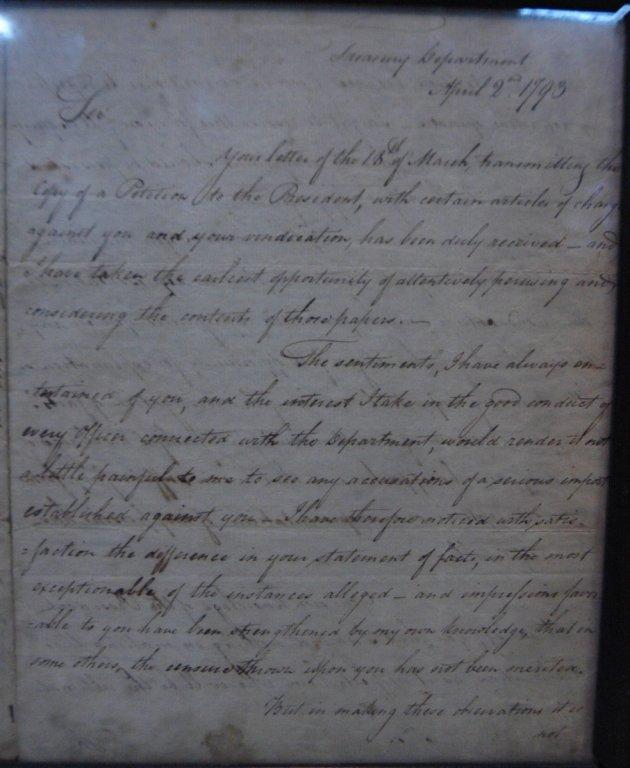 Alexander Hamilton ALS Dated Apr 2 1793 - 5