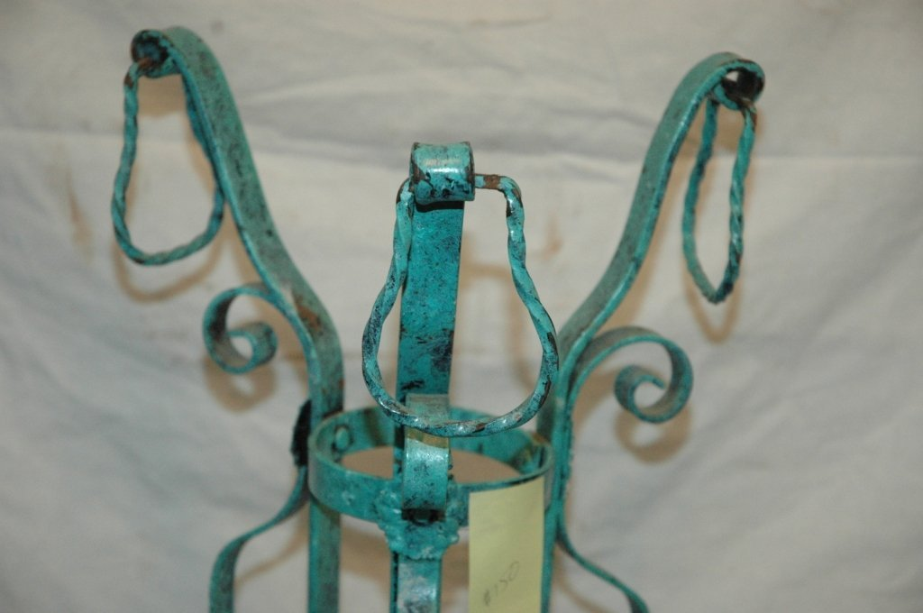 Painted Cast iron flower pot stand - 4