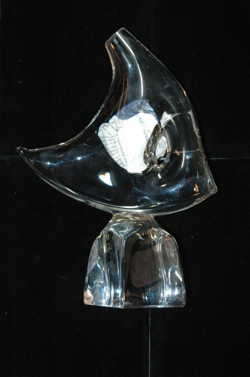 Daum France Crystal Angel Fish