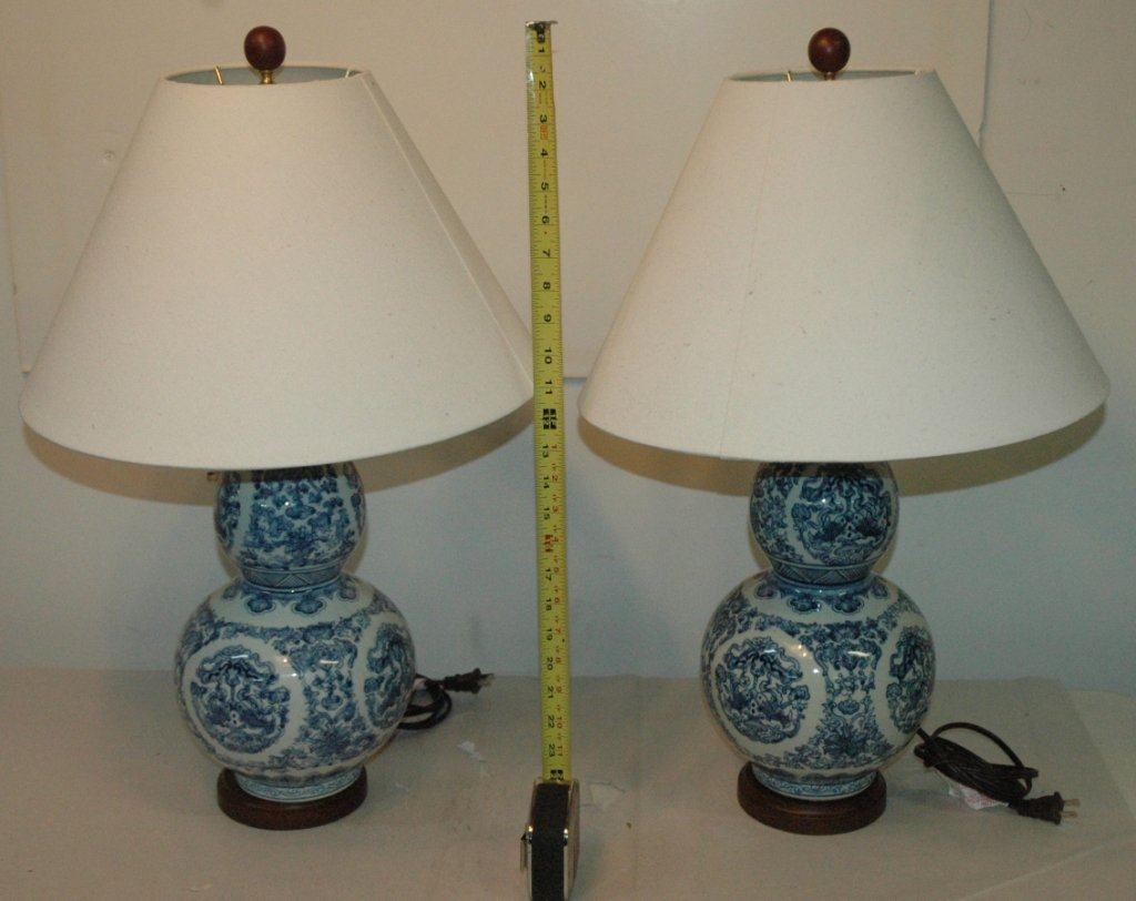 Ralph Lauren Blue & White Chinese Style Lamps