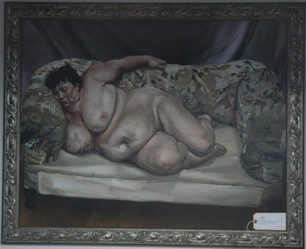 Lucien Freud repro painting