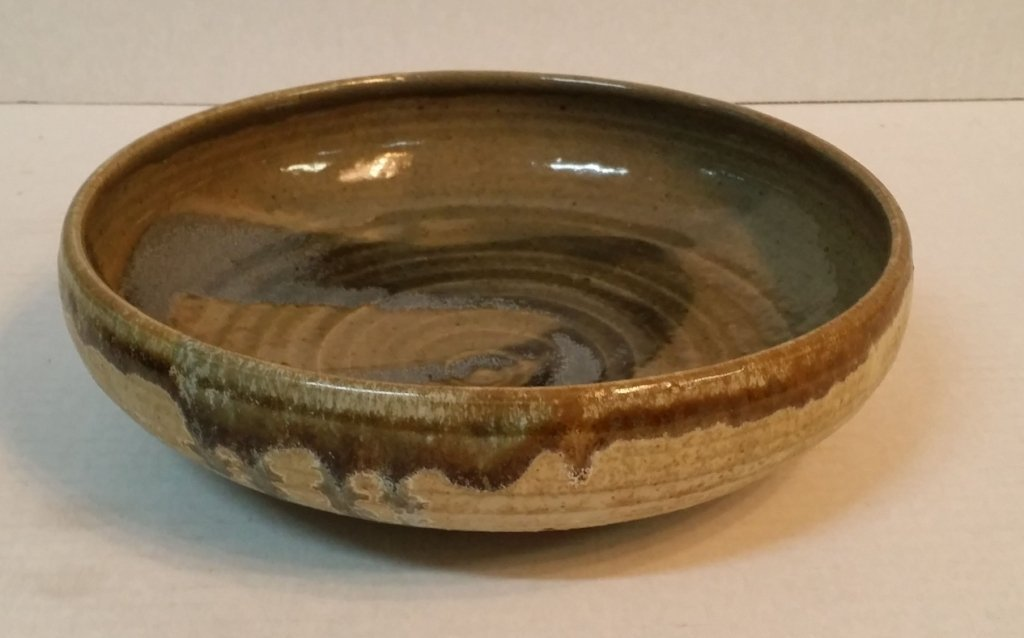 Karen Karnes  grey and green glazed bowl