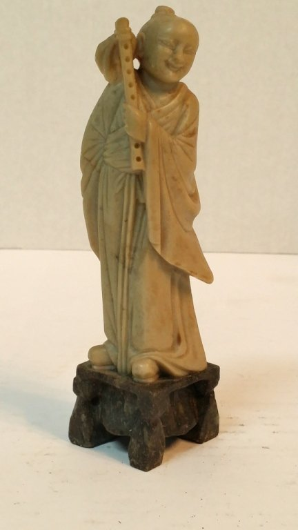 Carved Shoushan Stone Monk Statue