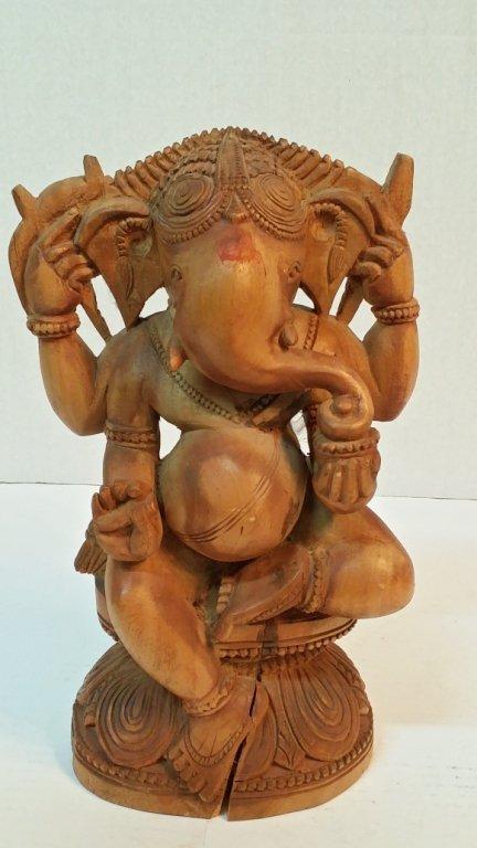 Ganesha Hand Carved  Wood Carving