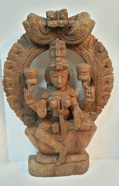 Estate Fresh Large Hand Carved Shiva-Darstellung