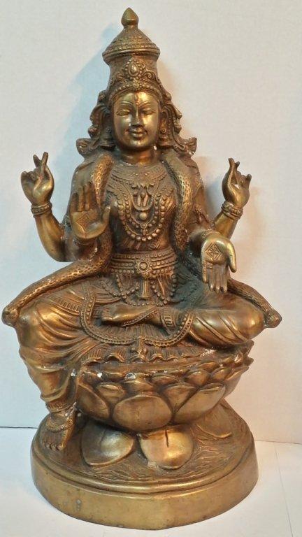 Large Bronze Shiva sitting on Lotus