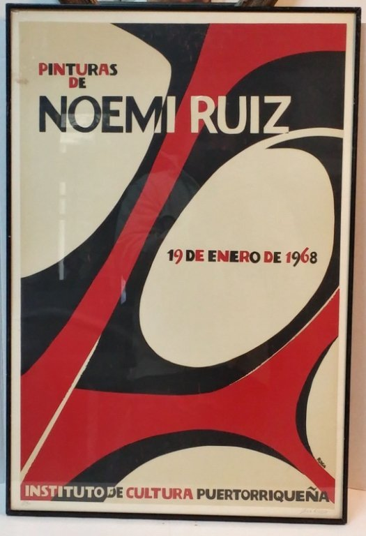 Noemi Ruiz 1968 Exhibition Poster by Jose Rosa