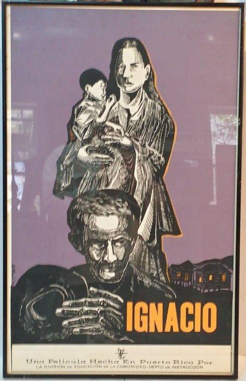 """Puerto Rican Poster """"Ignacio"""" Ed Vera"""