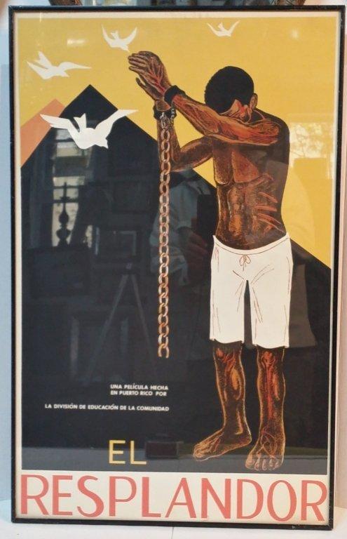 "Ed Vera Film Poster ""El Resplandor""."