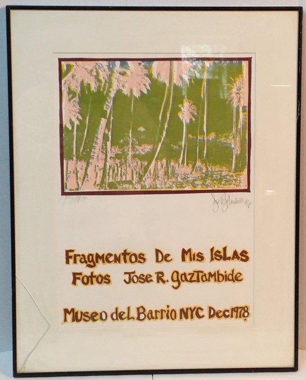 Jose R. Gaztambide Exhibit Poster 1978