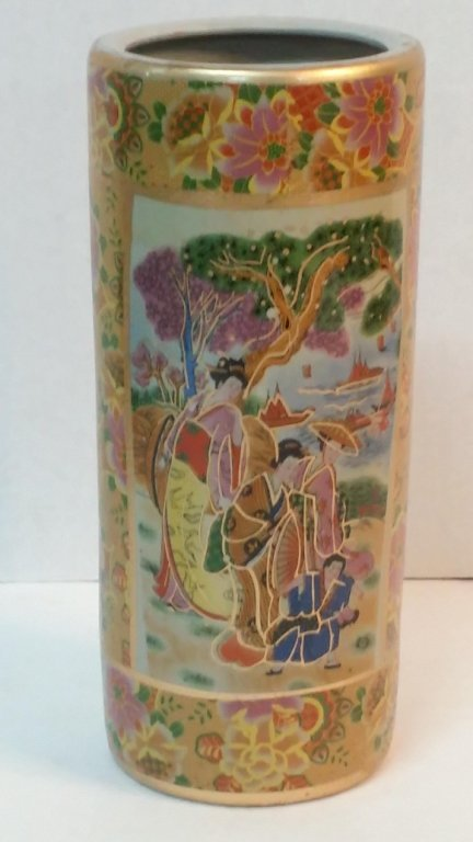 Vase with Asian design