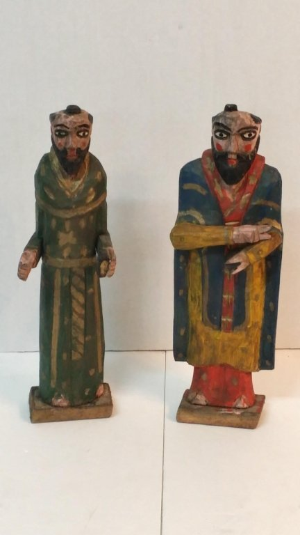 Set of mid eastern carved wooden Sheiks