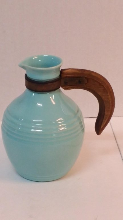 Pacific pottery light blue pitcher