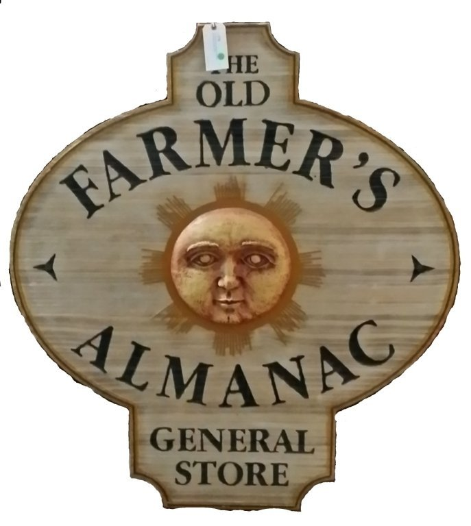 Original Nanuet  NY Farmers Almanac store Wooden Sign