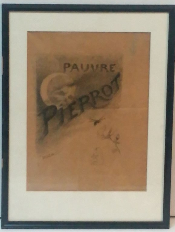 "Antique Pauvre Pierrot signed "" Willettes"
