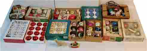 Grouping of vintage Christmas ornaments