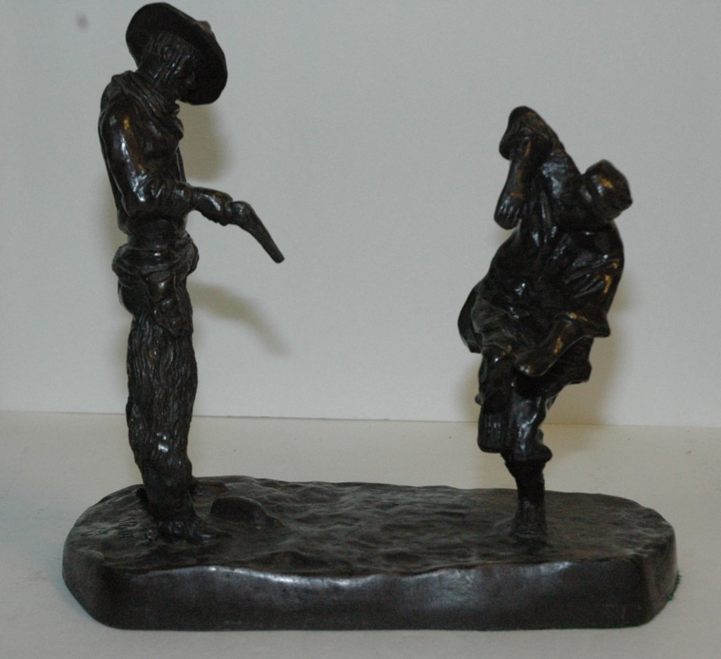 "C. M. Russell ""Painting The Town"" Bronze"