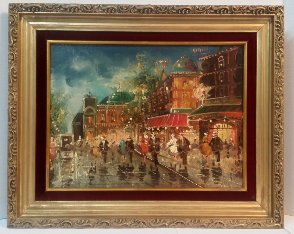 """Oil on Canvas """"Night on the Town"""""""