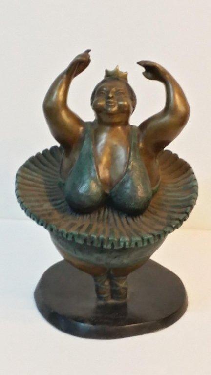 """Bruno Luna """" Spinning Ballerina """" Bronze sculpture"""