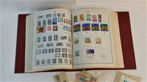 Standard World Stamp Album with some stamps