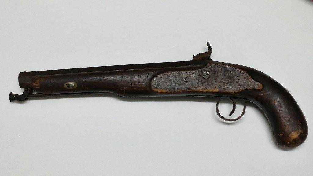 19th Century Percussion Pistol Gun W/ Octagon barr