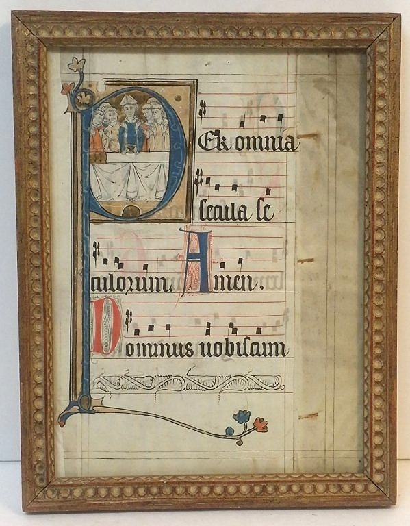 A Page of Italian Antiphonary, on Vellum Double sided