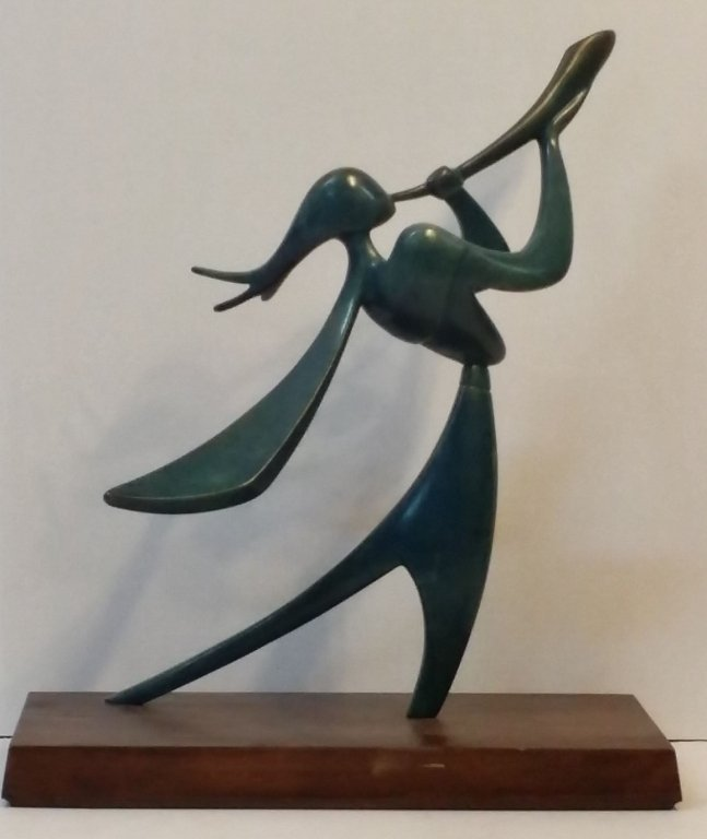 "Victor Halvani ""Joshua With The Shofar"" Bronze"