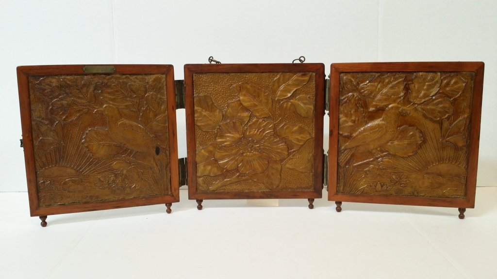 A Victorian 3 panel folding mirror