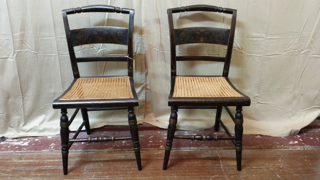 A pair of Signed Hitchcock Chairs