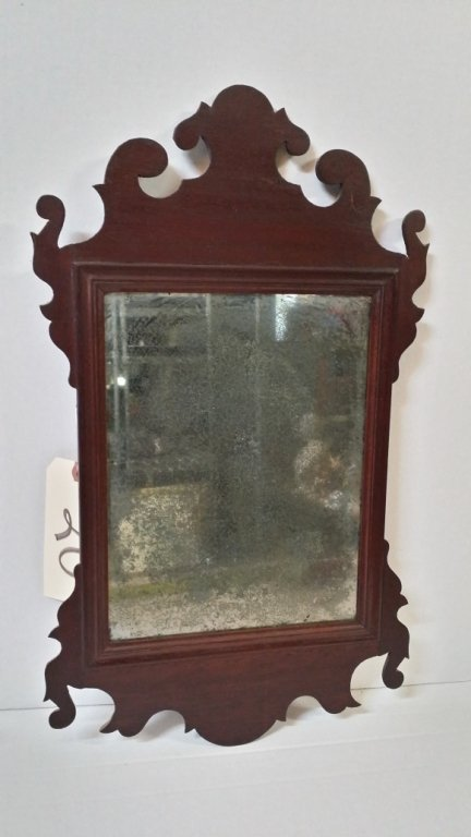 An antique looking glass.