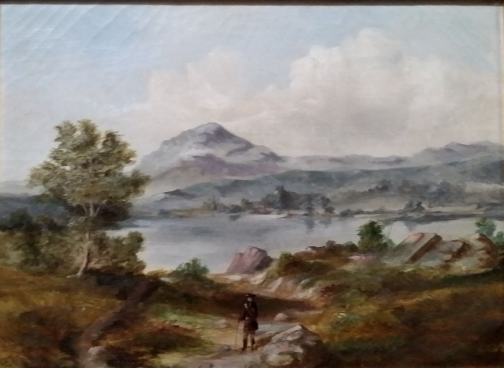 A Scottish oil on canvas antique painting