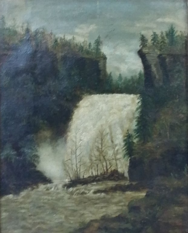 Primitive Oil on Canvas J. P. Whaley Ithaca NY