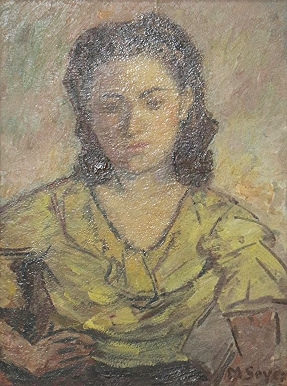 """Moses Soyer """" Portrait of a woman """""""