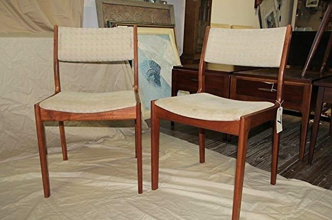 Pair of Mid Century Danish Teak side Chairs