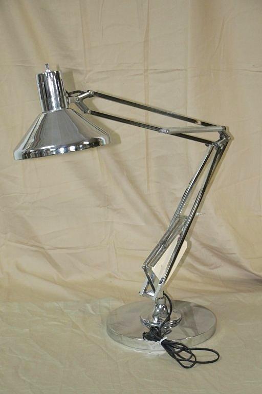 LUXO 70's Modern Chrome Finish Desk Lamp