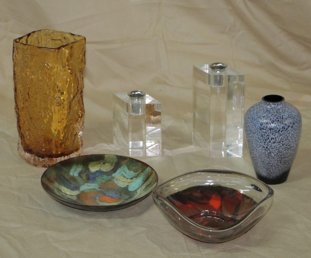 Art Glass; Stuart w/ assorted other glass & lucite