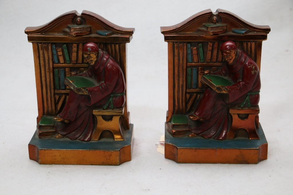 """A pair of Ronson """"Monk"""" bookends"""