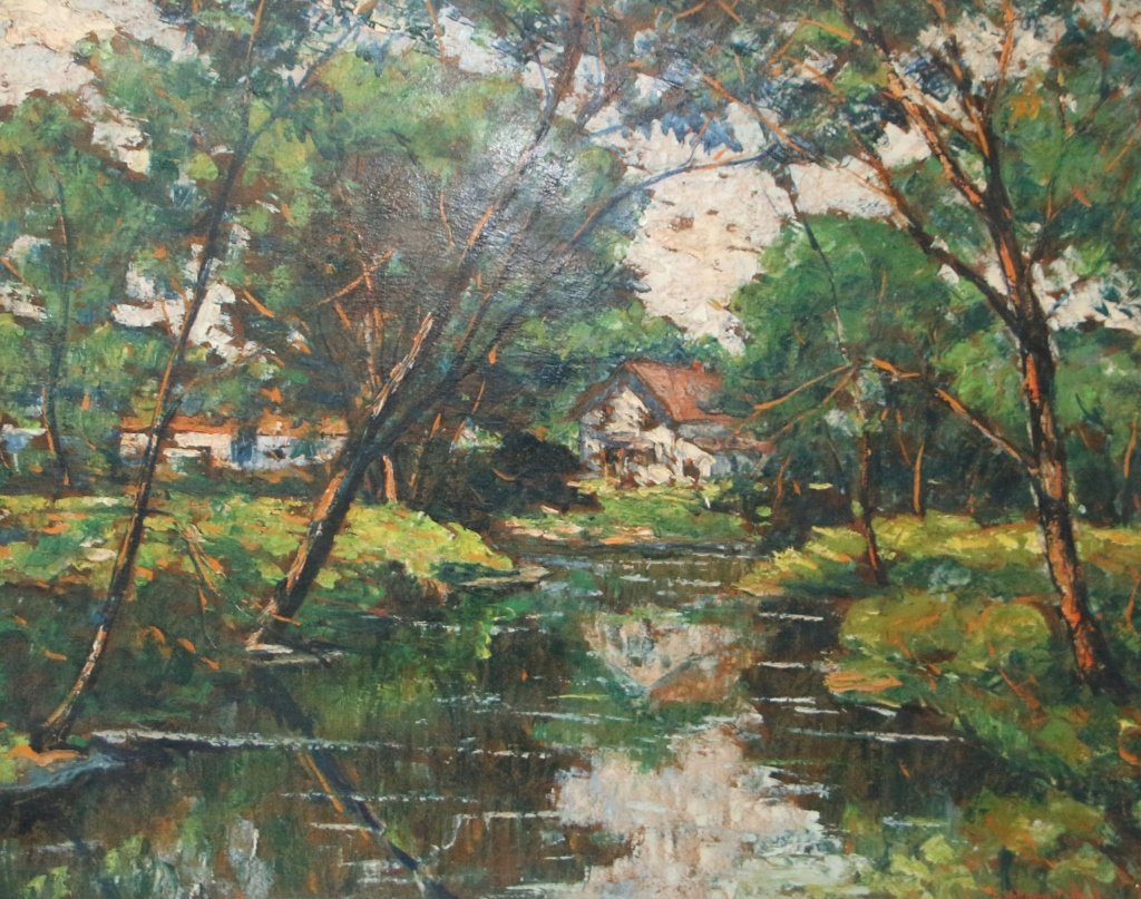 William Fisher Post Impressionist Oil on Board