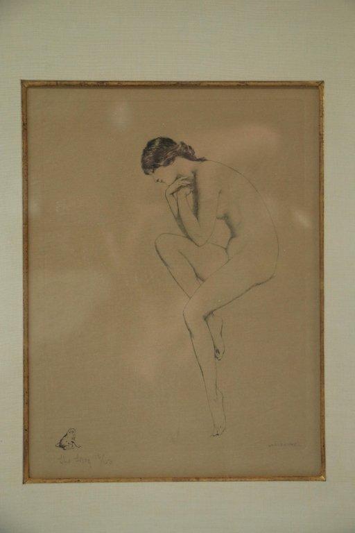 Warren Davis (1865-1928) Lithograph