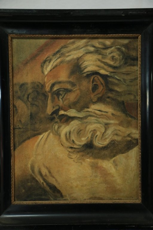 """Antique Oil on Canvas """"Old Man"""""""