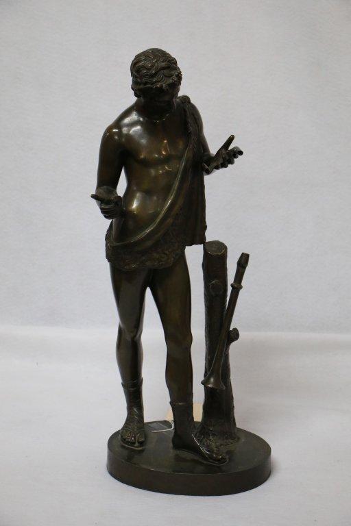 Narcisse La Flute de Pompei Bronze