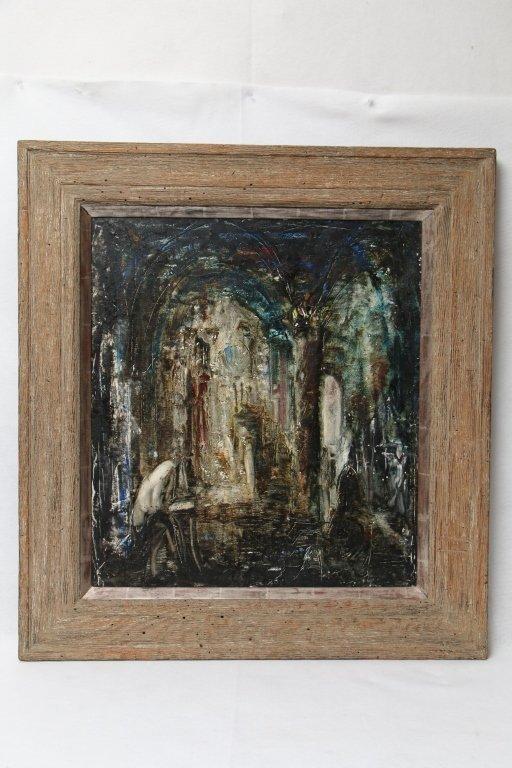 Zvi Raphaeli (1924-2005) Oil On Canvas