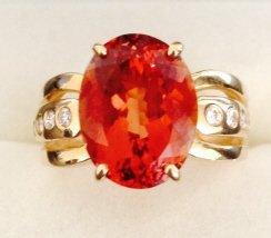 14kt gold & tourmaline ring
