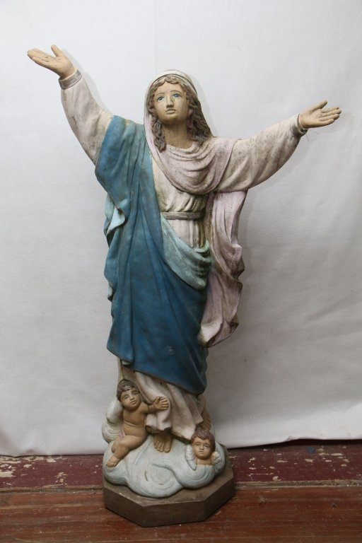 Large statue of Mother Mary