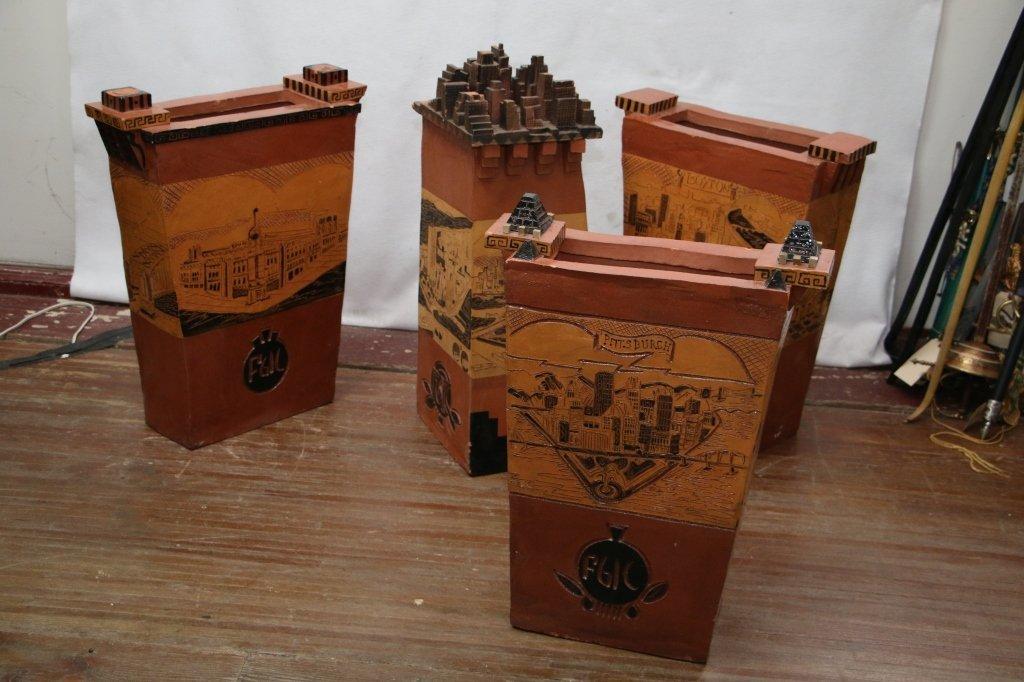 Tom Lollar Ceramics groupings (4 pcs)