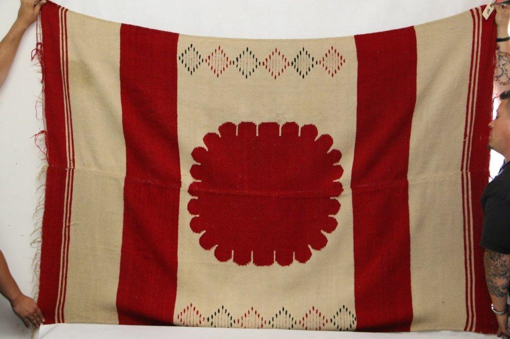 A vintage Native American blanket