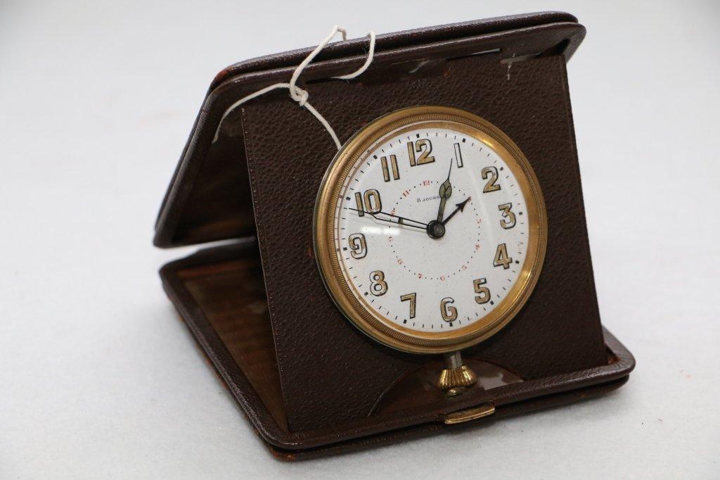"A Cased, vintage car clock ""8 Jours"""