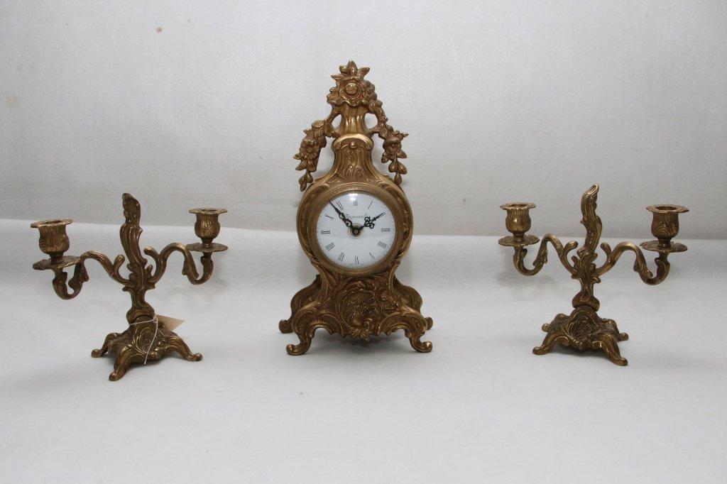 Vintage Clock and garniture set
