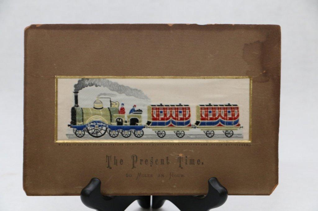 "An antique Stevengraph ""The Present Time"""